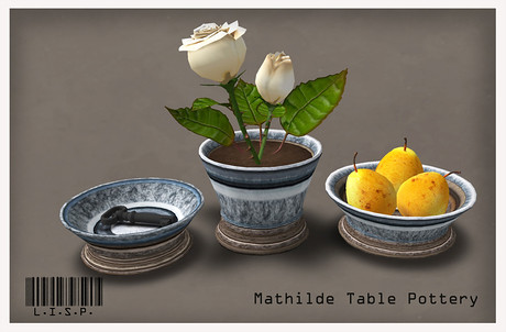 Mathilde Dining Pottery Set (LISP Bazaar), not free by Cherokeeh Asteria