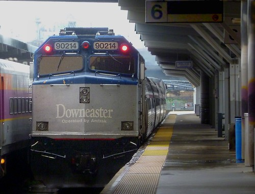 Downeaster departing North Station