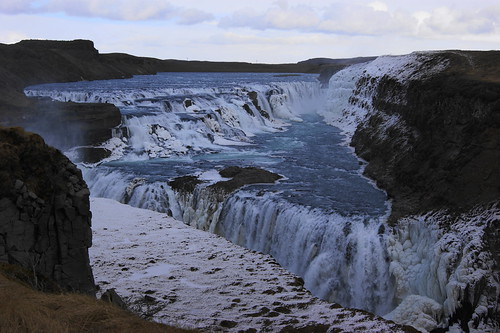 Gullfoss (Golden Falls) waterfalls, Iceland