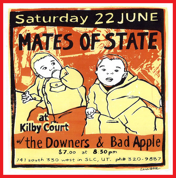 Leia Bell Mates of State gig poster