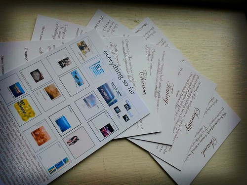 photo of essay cards