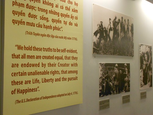 Vietnam War Remnants Museum - American Declaration of Independence