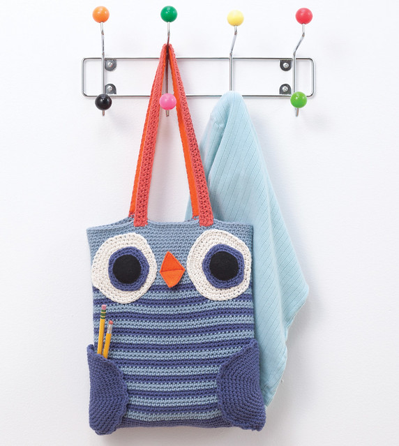 Crocheted Owl Book Bag From Amigurumi on the Go by Ana ...
