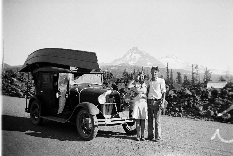 Prince and Marjorie Helfrich on the McK Pass 1930