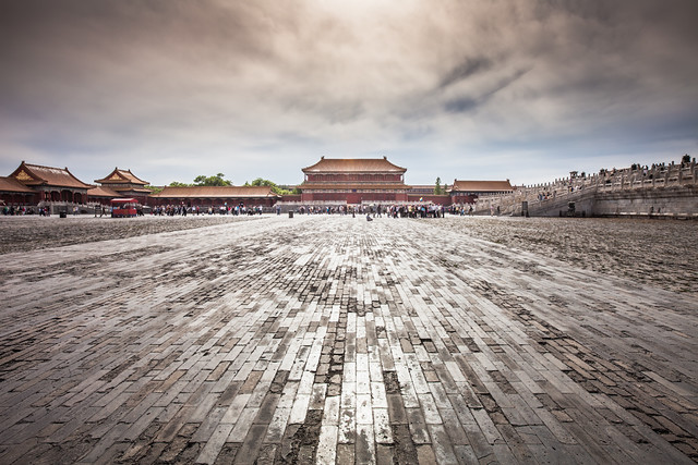 China / Beijing / Magnificent view of the Forbidden City.