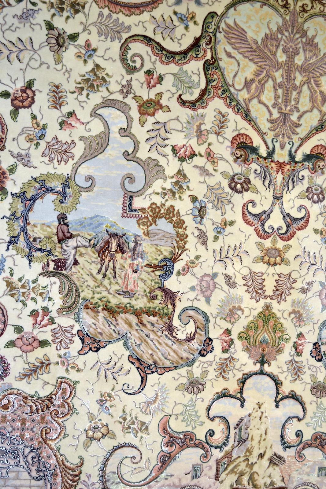 Tabriz Nami 75 Raj Kamel - 800 KPSI Persian Master Piece Area 10x13 Rug