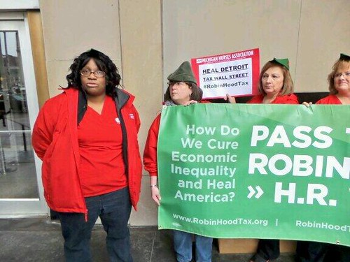 Detroit actoin for Robin Hood Tax 4/4/14