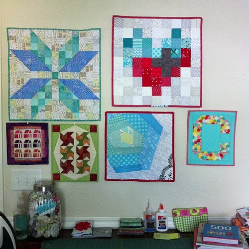 The humble beginnings of my mini quilt wall