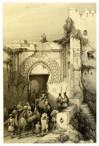 012-Puerta de la ciudadela de Tanger-Picturesque views in Spain and Morocco…Tomo II-1838-David Roberts