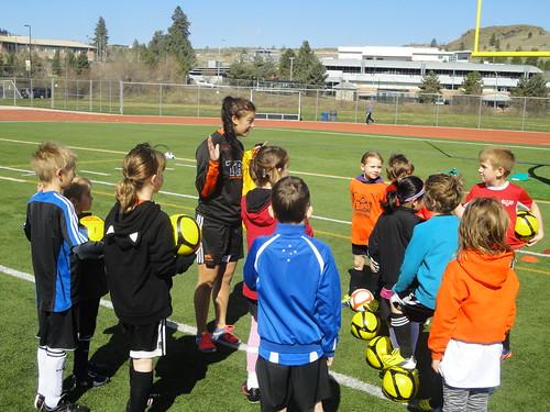 Jaydene Radu speaks with youngster (Apr 12, 2014)
