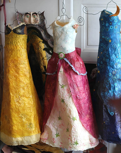Tissue Paper Dresses by Patricia Chemin