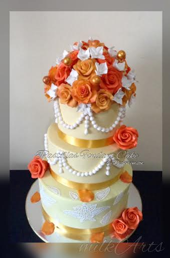 Milk Fondant Wedding Cake by Dianne Imson