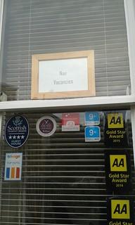 Nae vacancies in Pilrig