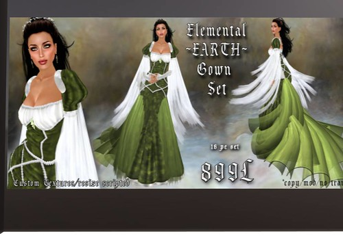 Elemental ~ Earth Gown Set GroupGift by Cherokeeh Asteria