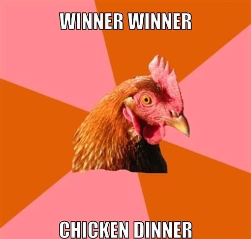 anti-joke-chicken-meme-generator-winner-winner-chicken-dinner-6df0d6