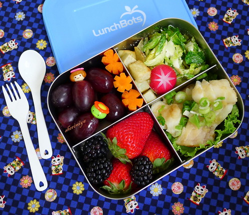 Steamed Cod and Roasted Veggies Bento by sherimiya ♥