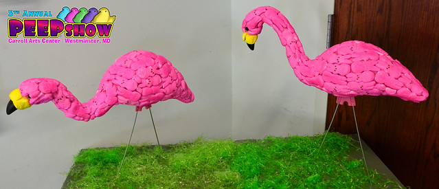 Peep Flamingos by Sandy Oxx