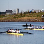 Yale and Penn University Eight Crews, Overpeck Lake Rowing Regatta, Bergen County, New Jersey