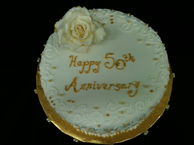 Simple Anniversary Cake Images : Simple 50th anniversary cake Flickr - Photo Sharing!