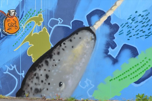 narwhal mural