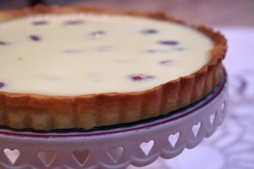 Crostata al cioccolato bianco e cranberrys