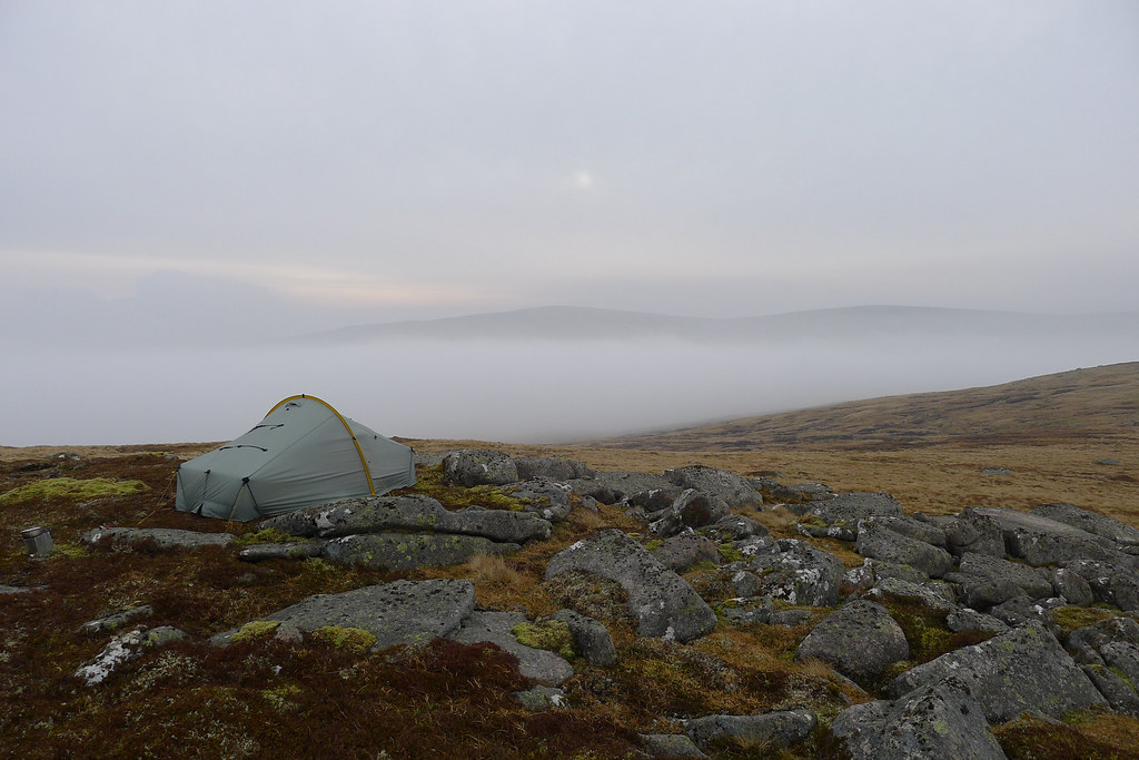 Camped above the clouds