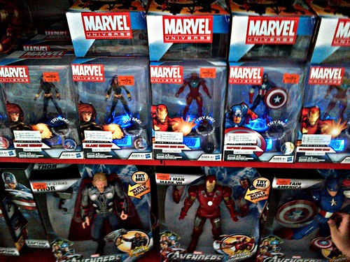 "New Marvel Universe Avengers 3.75"" figures with 'Light-Up Base'"