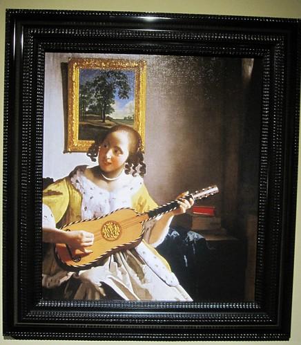 「ギターを弾く女」フェルメール by Poran111