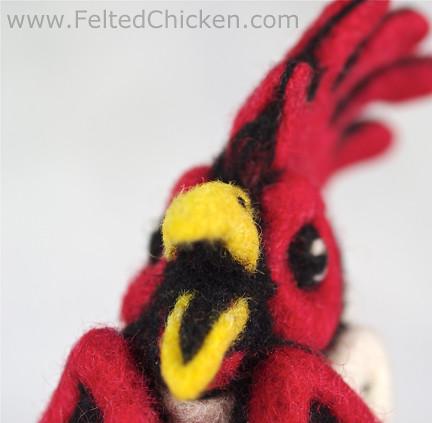 Felted Chicken Head 7