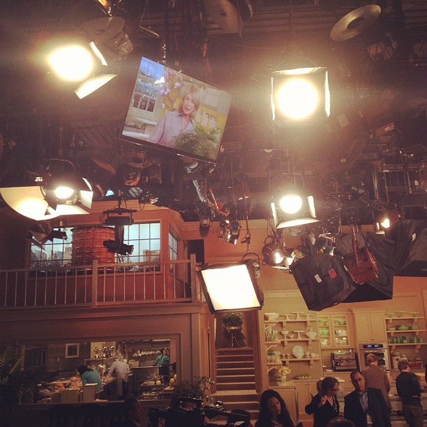 Lights, camera, action at the Martha Stewart show....