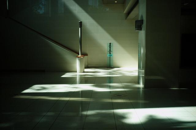 壁面の光線