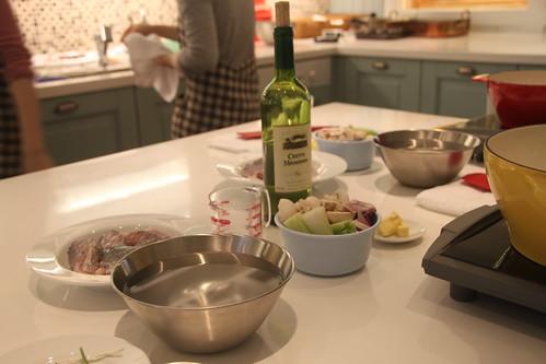 嫩煮龍膽石班佐貝西白酒醬汁