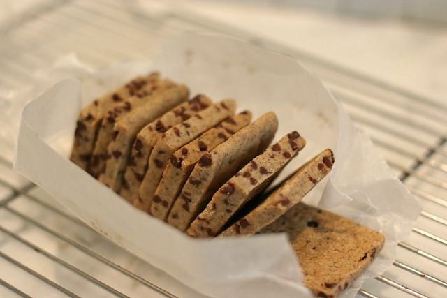 espresso chocolate chip shortbread