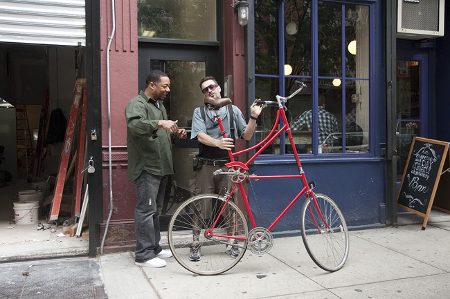 New York Portraits On Custom Bikes In The Village