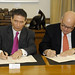 Secretary General Signs Agreement on French Contribution to Support Peace Mission in Colombia