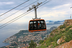 Dubrovnik's Cable Car giving a fantastic view of the area.
