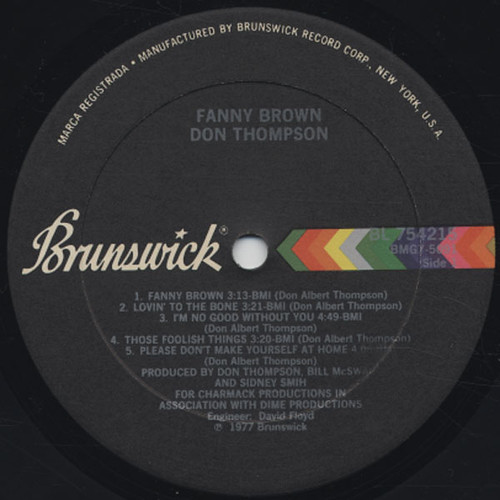 Don Thompson  - Fanny Brown - label A