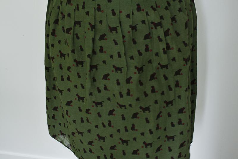 Cat Print Skirt