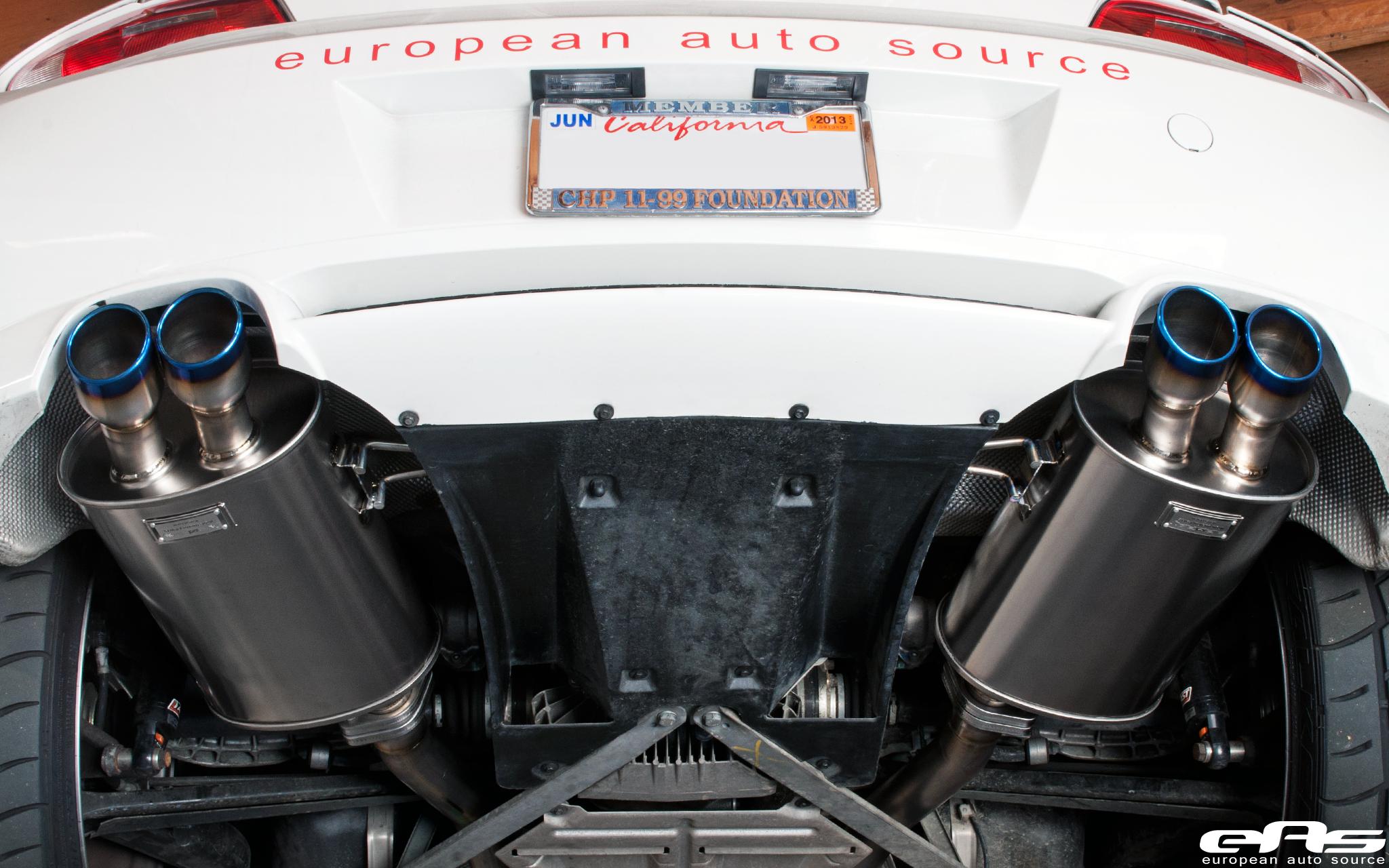 Arqray Titanium Exhaust Installed On Our Z4m Bmw