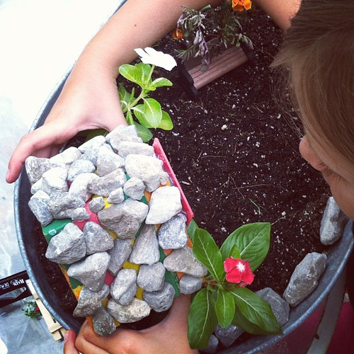 Fairy house set on foundation..check• #fairyhouse #fairygarden #hannah