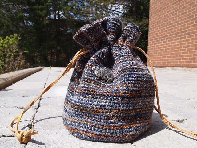 Shipwreck & Longest Night crochet drawsting bag-