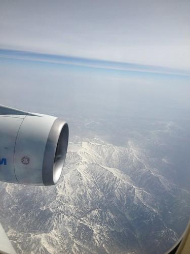 En el avión rumbo a Tokio