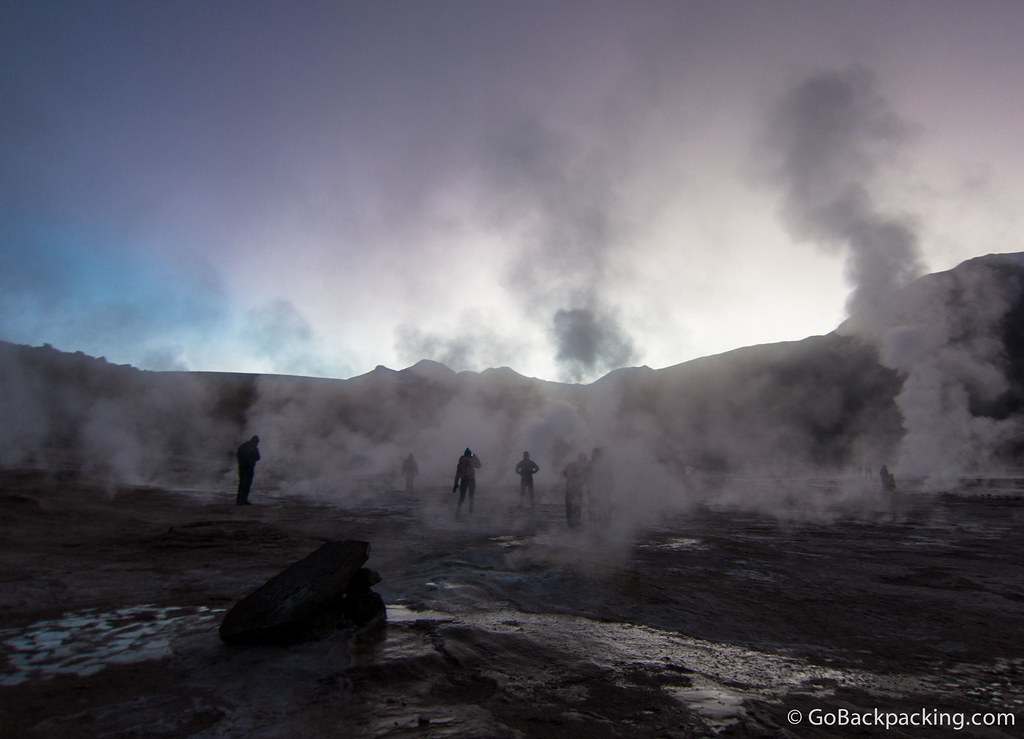 The Tatio Geysers before sunrise