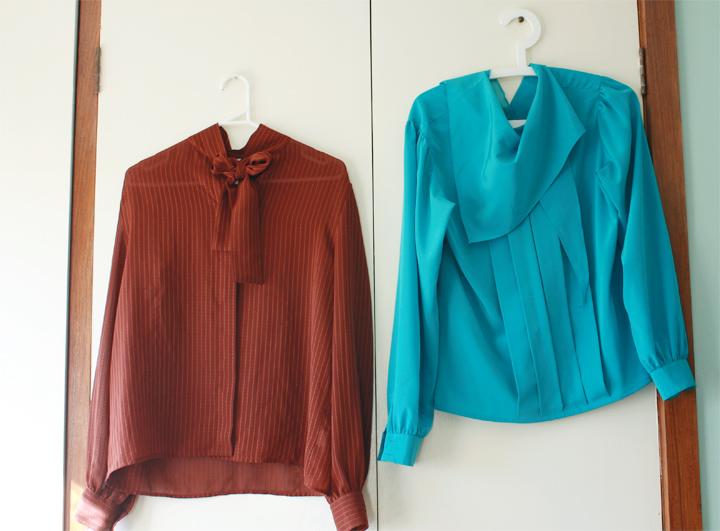 blouses rust blue