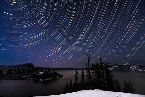 Crater Lake Star Trails