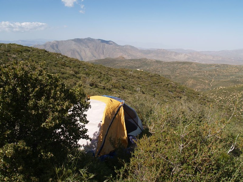 The view north to Granite Mountain from our campsite above the Pacific Crest Trail