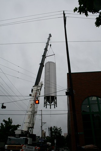 That's not Sputnik, it's a new 1750-bbl ferementation tank being crane lifted into Widmer's brewhouse