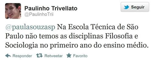 Tweet - @PaulinhoTrii