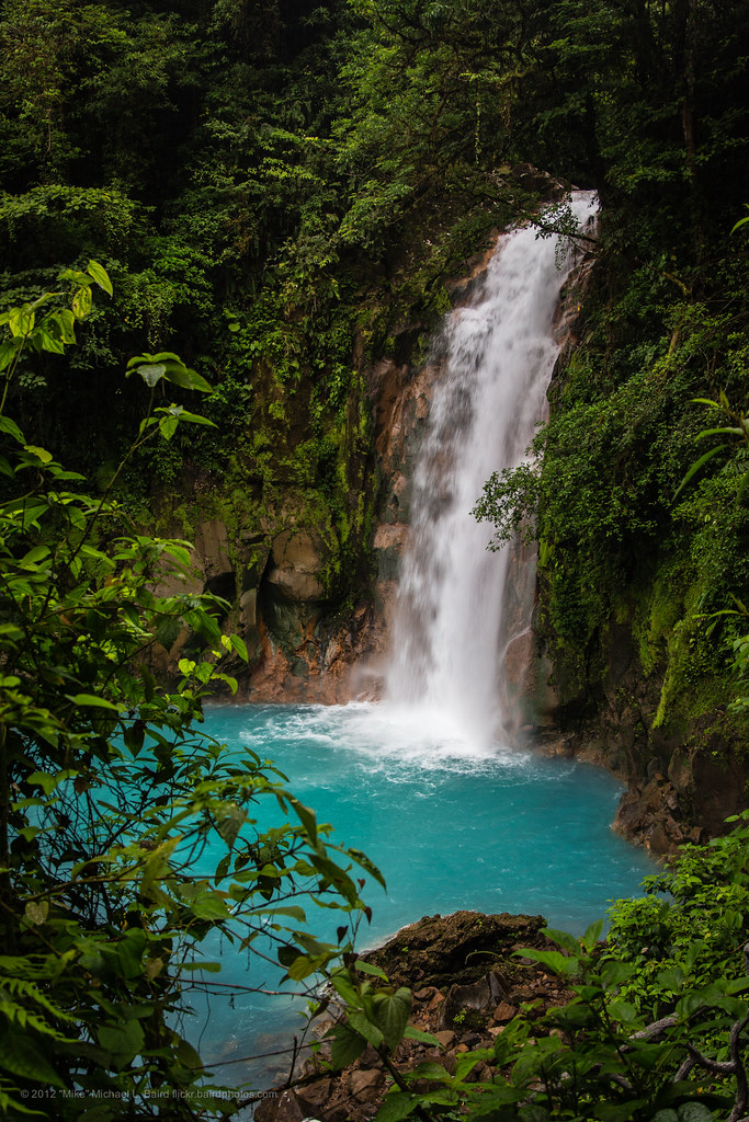 Celeste Catarata (Sky Blue Waterfall) near volcan Tenorio