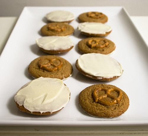 White Chocolate Pretzel Peanut Butter Cookies